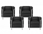 LC2 Package - 4 x Armchair LC DS/21